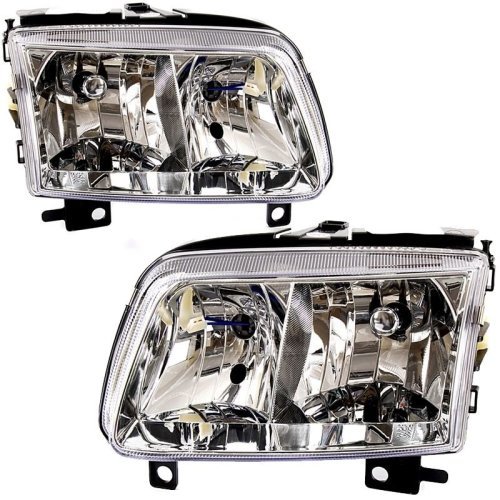 Volkswagen Polo 6n2 2000-2002 Headlights Headlamps 1 Pair O/s & N/s