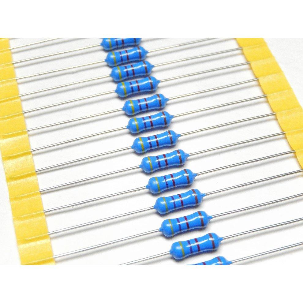 1W 750K Ohm 1 Watt 1/% Tolerance Metal Film Resistor 10 Pieces