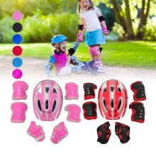 7 pieces/set of children's bicycle helmet, knee and elbow protection