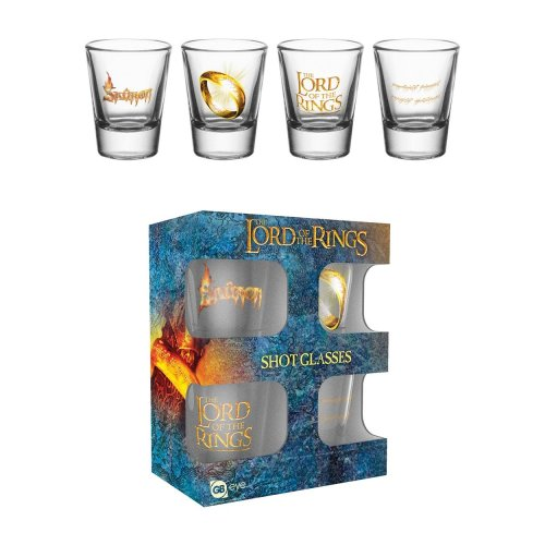 4pk Lord of the Rings Shot Glasses | Shot Glass Gift Set