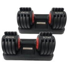 25KG Adjustable Dumbbells Pair Set 5kg - 25kg ( 50K Total ) TCTNT