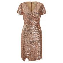 Yumi Womens/Ladies Sequin Wrap Around Dress