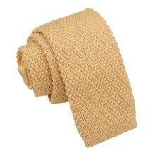 Lemon Yellow Knitted Tie for Boys