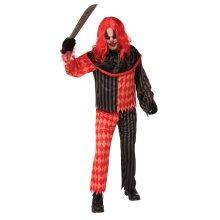 Mens Quarter Sawn Clown Fancy Dress Costume (XL)