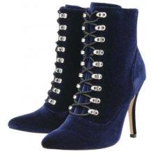 Ladies SteamPunk Ravel Akron Stiletto Ankle Boots