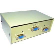 kenable SVGA Monitor Switch Switchbox 2 Way   1 x 15pin VGA to 2 x 15 pin VGA