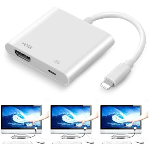 Lightning to HDMI Digital TV IDMB Adapter Cable Apple iPhone iPad 5 6 7 8 Plus X