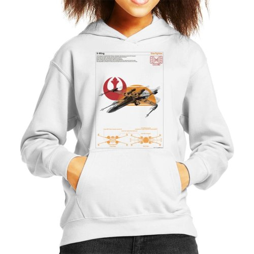 Star Wars X Wing Starfighter Orthographic Kid's Hooded Sweatshirt