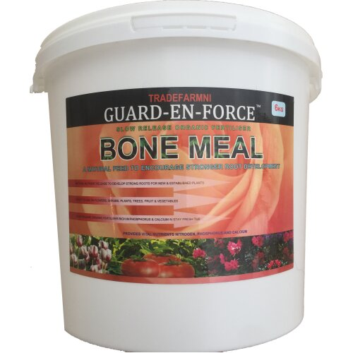 6KG BONE MEAL Slow Release Organic Fertiliser and Strong Root Builder For Trees, Shrubs, Root Crops , Fruit Trees and More