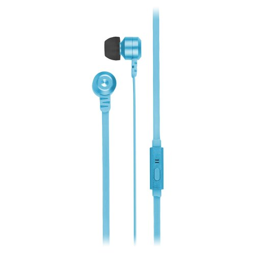 KitSound Ribbons Earphones With Microphone Blue