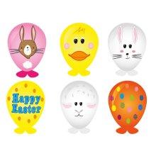 6 Easter Balloon Heads