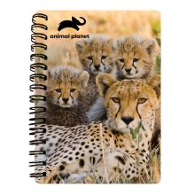 Cheetah Family Prime 3D Effect Animal Planet A6 Notebook