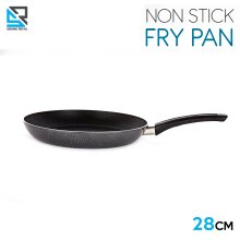 Stainless Steel Non Stick Frying Pan Round Frypan Black 28 cm