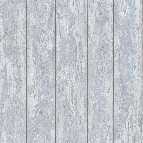Grey Blue Wood Panel Effect Wallpaper Feature Wall Matt Finish  Distressed Faux