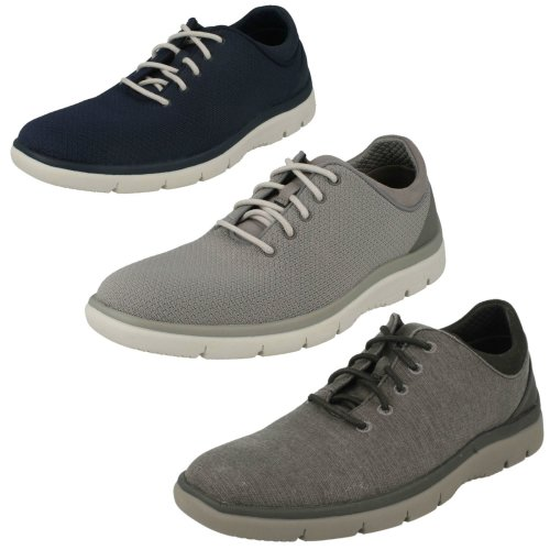 Mens Clarks Casual Lace Up Trainers Tunsil Ace - G Fit