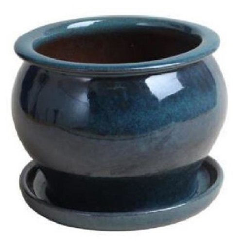 Trendspot 227359 4 in. Studio Pot, Drip Blue