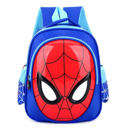 (Blue) Kids Spiderman Backpack School Bookbag Rucksack Shoulders Bag