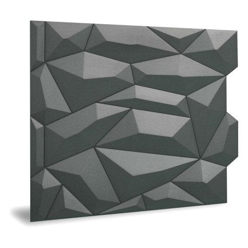Profhome 3D 705475 Glacier Smoked Gray Decor panel 3D matt grey 2 m2
