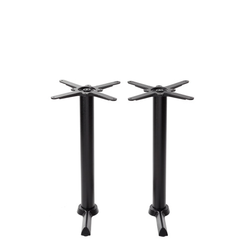 Black cruciform table base - Twin - Dining height - 730 mm