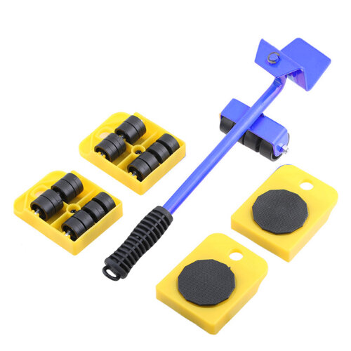 (Yellow) Heavy Furniture Shifter Lifter Wheels Moving Kit
