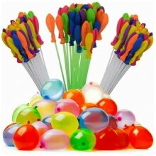 Bunch Balloons Water Bombs Blaster Launchers Self Tying Sealing Pack of 111 Rapid-Fill Water Balloons -Colour May Vary