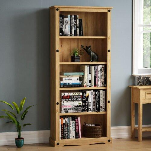 Corona Large Bookcase 5 Shelf Shelving Display Living Room Storage