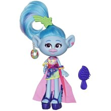 Dream Works Trolls Glam Chenille Fashion Doll with Dress, Shoes and More, Inspired by Trolls World Tour, Toy for Girl 4 Years and Up