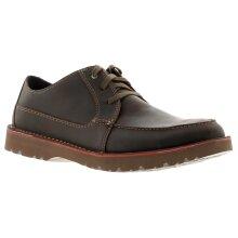 Clarks vargo vibe leather mens shoes dark brown UK Size