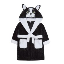 Childrens Novelty French Bulldog Dressing Gown
