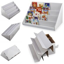 2X Card Display Stand 4 Collapsible Cardboard Greeting Counter Stand