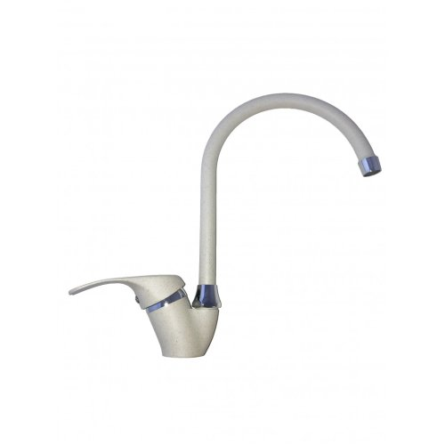 Mixer tap with old stone kitchen, fragranite oats sand