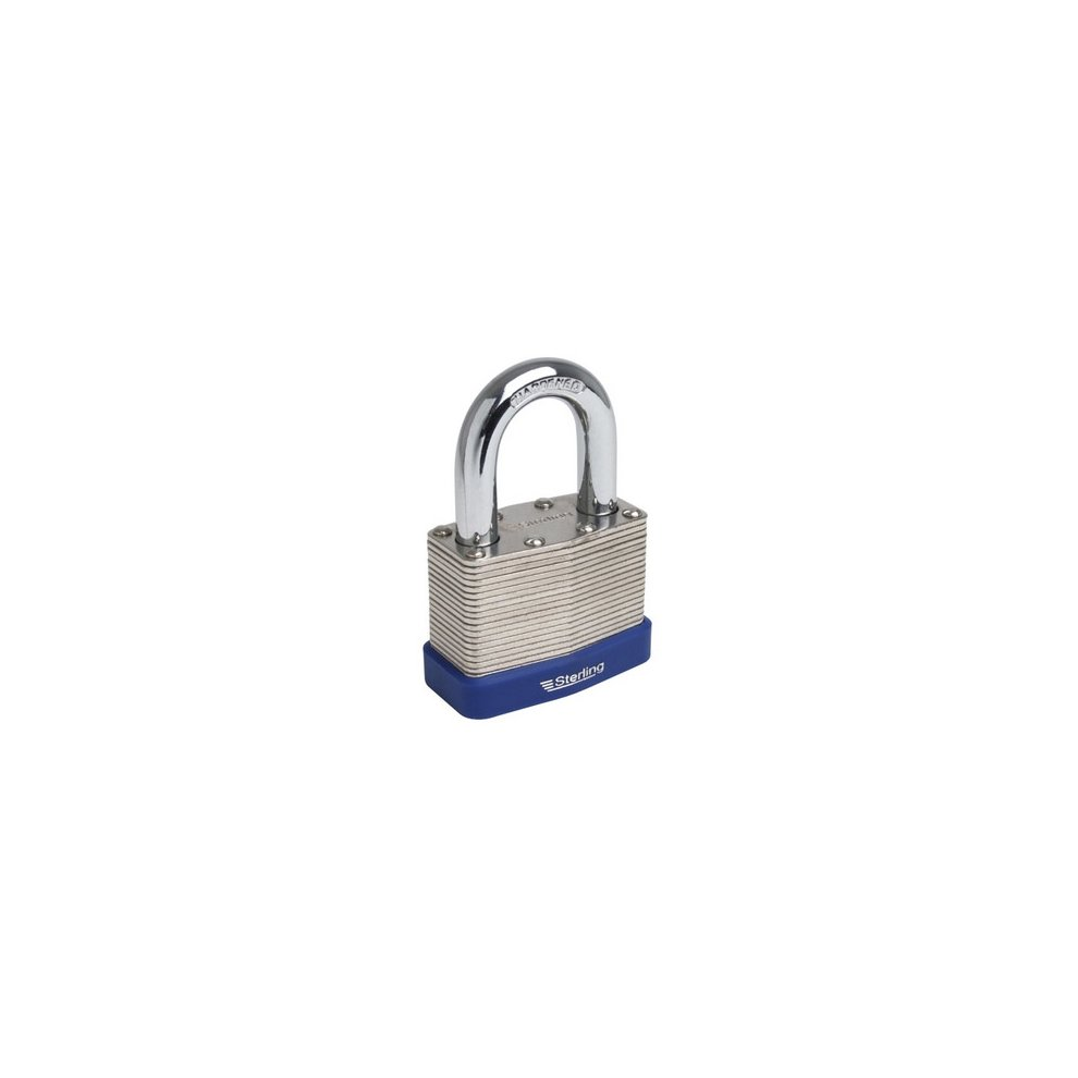 Silverline Laminated Steel Combination Padlock 50mm
