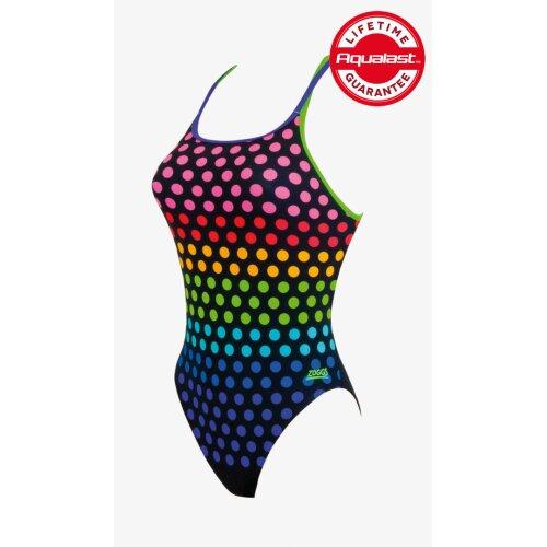 Zoggs Lilli Pilli Ladies Twin back Swimsuit Multi