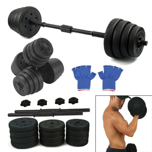 30KG Dumbell Gym Weights Training Set Fitness Exercise Free Weight