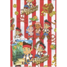Jake and the Neverland Pirates gift wrap