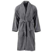 vidaXL Unisex Terry Bathrobe 100% Cotton Anthracite L Nightwear Loungewear