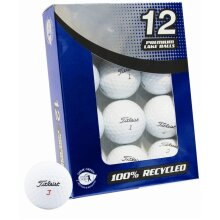 TITLEIST RECYCLED REFINISHED GARDEN GAME GOLFERS RECLAIM GOLF BALLS BOX OF 12 ( ***New)