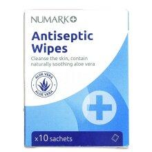 NUMARK Antiseptic Wipes - 10 Sachets