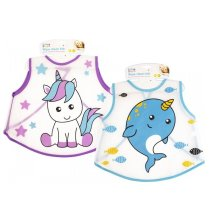 First Steps Wipe Clean Bib - Unicorn - 1 Bib