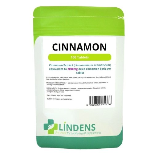 Cinnamon Bark Extract Tablets 2000mg 100 Tablets Cinnamon Aromaticum