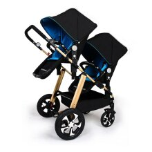 Twins Baby Stroller Carton, Two Seats Baby Cart, Light Folding Baby Carriage