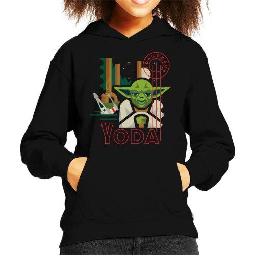 Star Wars Dagobah Yoda Kid's Hooded Sweatshirt