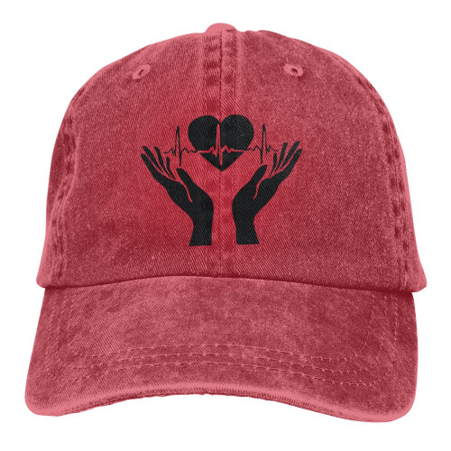 Heartbeat Denim Baseball Caps