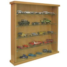 COLLECTORS - Wall Display Cabinet With Four Glass Shelves - Oak