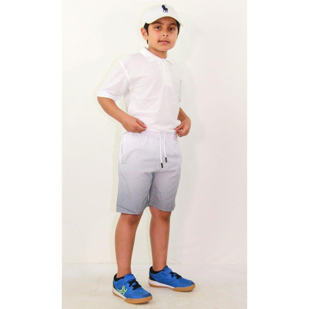 Kids Boys Girls Shorts Two Tone Navy Summer Chino Short Knee Length Half Pants