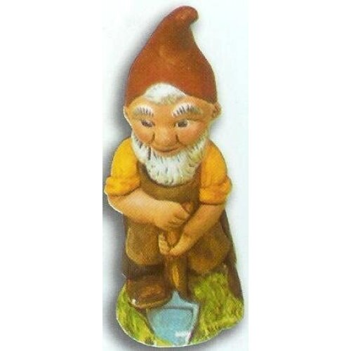 MOULD ONLY Supercast 18cm Gnome with Spade reusable latex mould