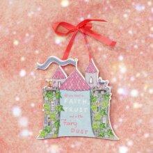 Magical Fairy Castle Hanging Plaque