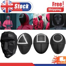 2021 Squid Game/Round Six Face Mask Halloween Party Cosplay Mask Horror Game NEW