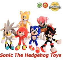6Pcs Sonic The Hedgehog Plush Doll Toys