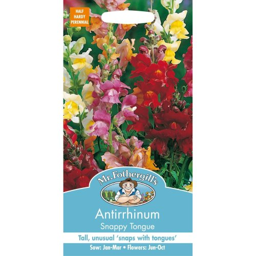 Mr Fothergills - Pictorial Packet - Flower - Antirrhinum Snappy Tongue - 1000 Seeds